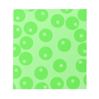 Retro pattern Circle design in green Notepad