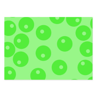 Retro pattern. Circle design in green. Pack Of Chubby Business Cards