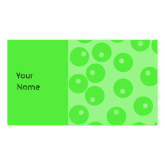Retro pattern. Circle design in green. Pack Of Standard Business Cards