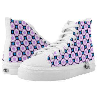retro pattern Custom Zipz Slip On Shoes Printed Shoes