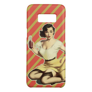 Retro pattern cute vintage pin up girl Case-Mate samsung galaxy s8 case