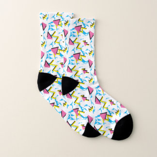 Retro Pattern Fun Abstract 80's Inspired Socks 1