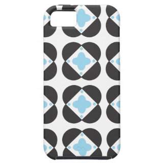 Retro Pattern in turquoise iPhone 5 tough case