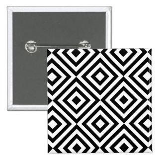 Retro Pattern Luxurious Sleek 15 Cm Square Badge
