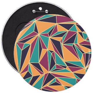 Retro Pattern Luxurious Sleek 6 Cm Round Badge