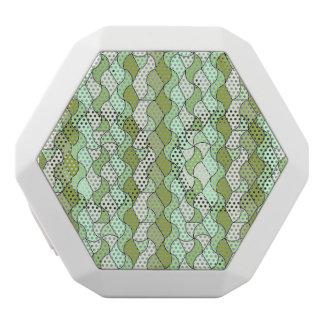 retro pattern OWEN green White Boombot Rex Bluetooth Speaker