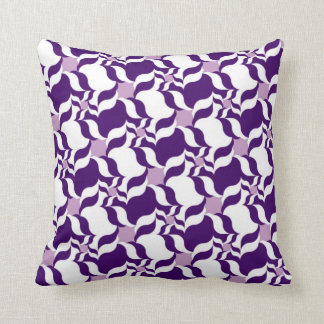 RETRO PATTERN PILLOW, Purple, White & Lavender Cushion