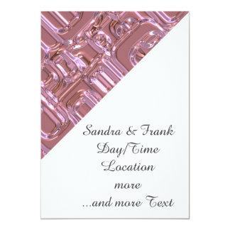retro pattern pink (I) 5x7 Paper Invitation Card