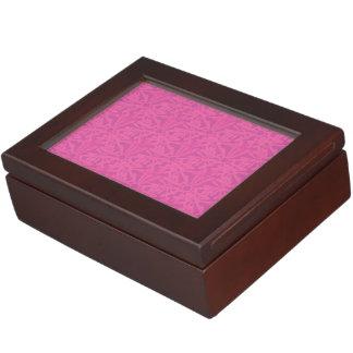 retro pattern pink keepsake box