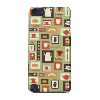 Retro pattern with kitchen dishes for breakfast iPod touch (5th generation) covers