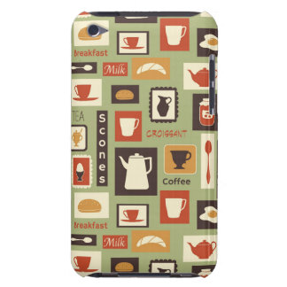 Retro pattern with kitchen dishes for breakfast iPod touch covers