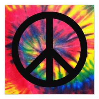 Retro Peace 13 Cm X 13 Cm Square Invitation Card
