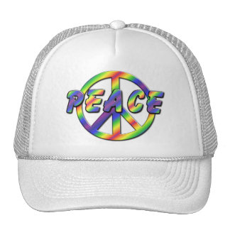 Retro Peace Sign Mesh Hats