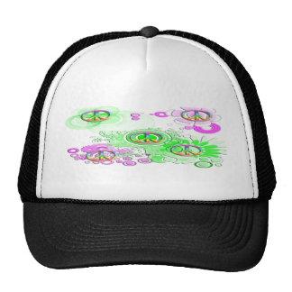 Retro Peace Sign Hat