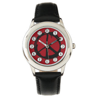 Retro Peace Sign Hippy Colorful Watch