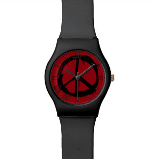 Retro Peace Sign Hippy Colorful Wrist Watch