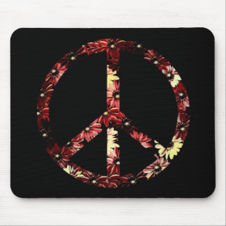 Retro Peace Sign Mouse Pad