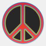 RETRO PEACE SIGN STICKER