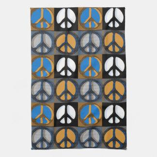 Retro Peace Sign Tea Towel