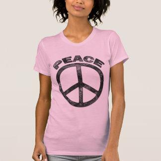 RETRO PEACE SIGN & TEXT T SHIRT