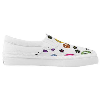 Retro Peace Slip-On Shoes