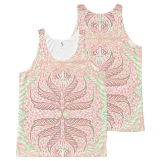 Retro Peach pattern All-Over Print Singlet