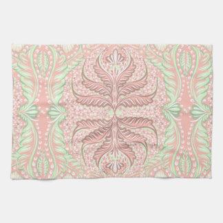 Retro Peach pattern Tea Towel