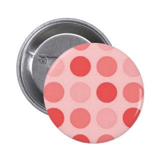 Retro Peachy Keen Peach Polkadot Button