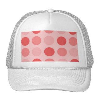 Retro Peachy Keen Peach Polkadot Hat Cap