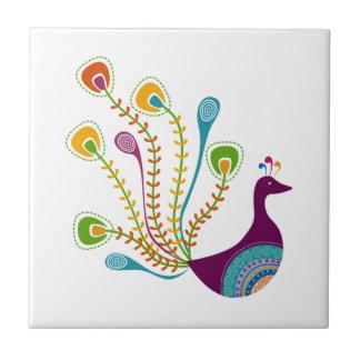 Retro Peacock Tile