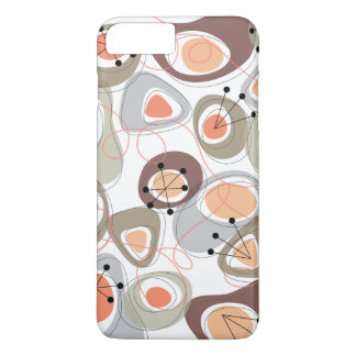 Retro Pebbles Lava Shapes Beach Groovy Fun Casing iPhone 8 Plus/7 Plus Case