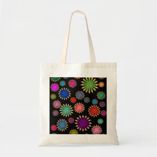 Retro pencil starbursts tote bag