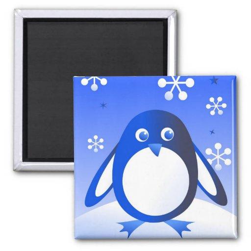 Retro Penguin Fridge Magnet