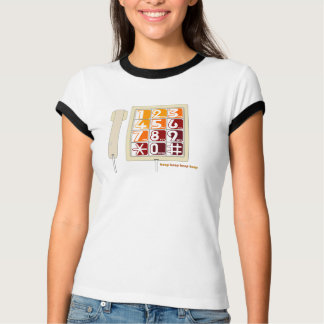 Retro Phone - Blue T T-Shirt