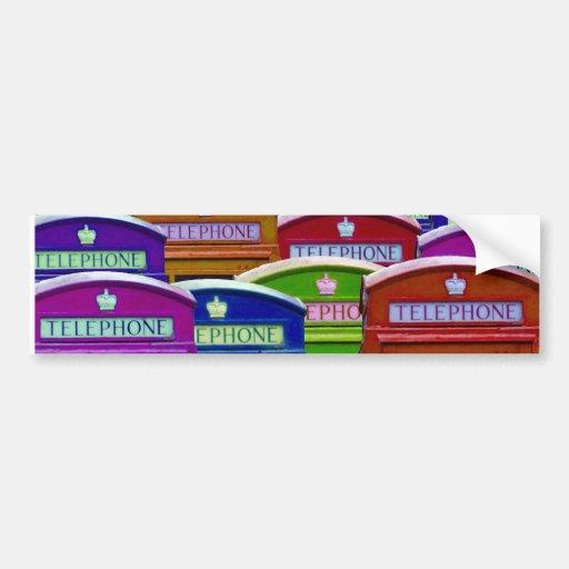 Retro Phone Boxes Bumper Stickers