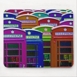 Retro Phone Boxes Mouse Pad