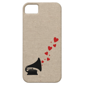 Retro phonograph stereo music lover hipster hearts iPhone 5 cover