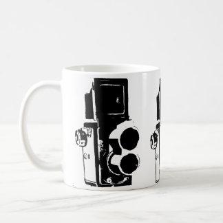 RETRO PHOTO CAMERA STENCIL Classic White Mug