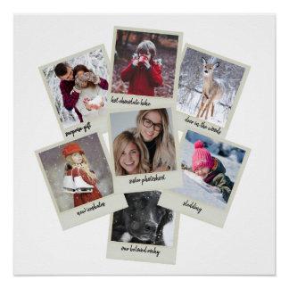 Retro Photo Collage Poster