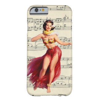 retro pin up aloha girl vintage 50's dancer barely there iPhone 6 case