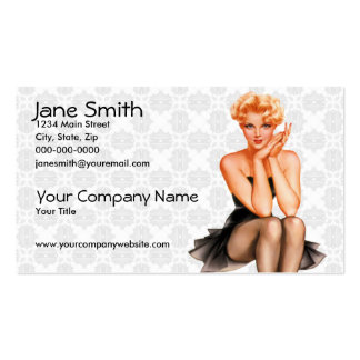 Retro Pin Up Business Card Templates