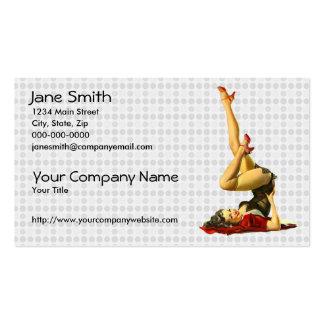Retro Pin Up Girl Business Card Templates