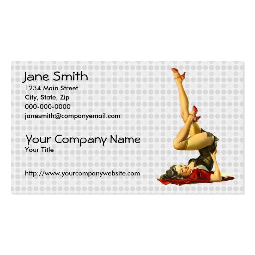 Retro Pin Up Girl Business Card Templates
