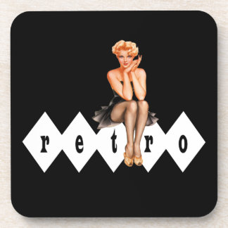 Retro Pin Up Girl Coaster