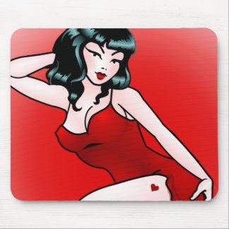 Retro Pin Up Girl Mousepad 50s Pinup Gifts