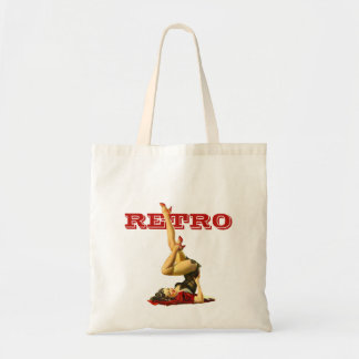 Retro Pin Up Girl Tote Bag