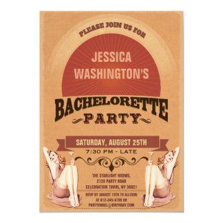 Retro Pin Up Girls Bachelorette Party 13 Cm X 18 Cm Invitation Card