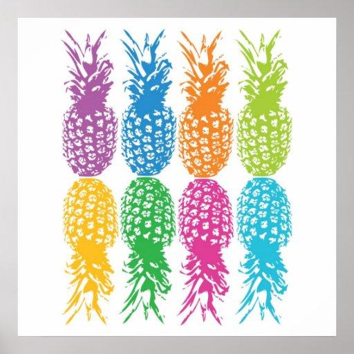 Retro Pineapple Print