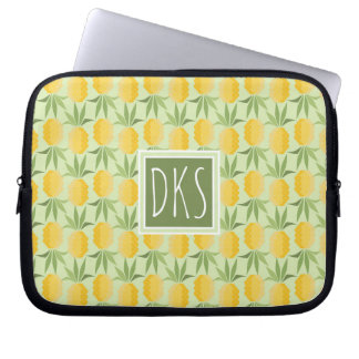 Retro Pineapples | Monogram Computer Sleeve