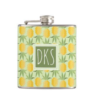 Retro Pineapples | Monogram Flasks